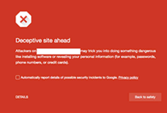 chrome deceptive site ahead blacklisted website warning image example