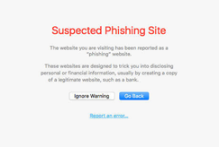 safari suspected phishing site blacklisted website warning image example