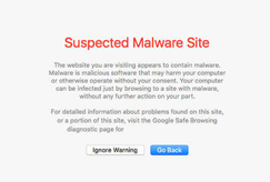 safari suspected malware site blacklisted warning website image example