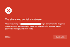 chrome site ahead contains malware blacklisted warning website image example