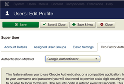 joomla 2factor authentication screenshot 2fa