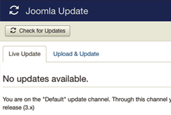 joomla core updates screenshot