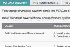 pci compliance data security screenshot