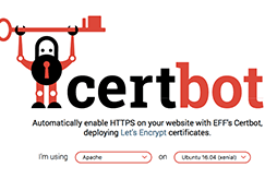 get instructions for your server from the cerbot website screenshot example