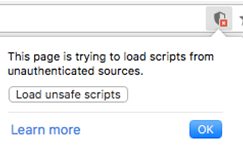 unsafe warnings during ssl installation load scripts