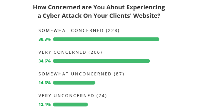 How Concerned Web Pros are about Experiencing a Cyber Attack