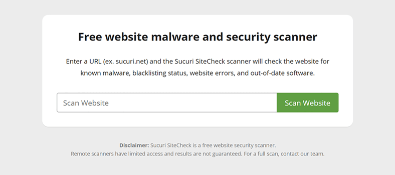 how to scan wordpress site for malware step 1