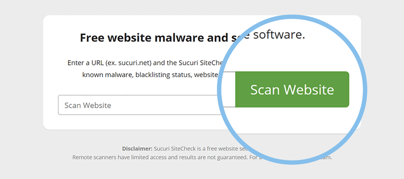 how to scan wordpress site for malware step 2