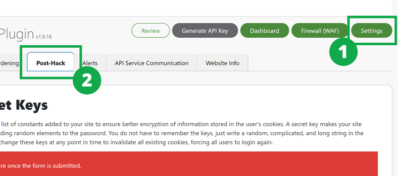 how to generate new secret keys in wp-config.php