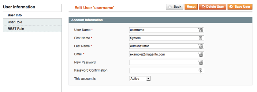 Magento 1 secure user accounts