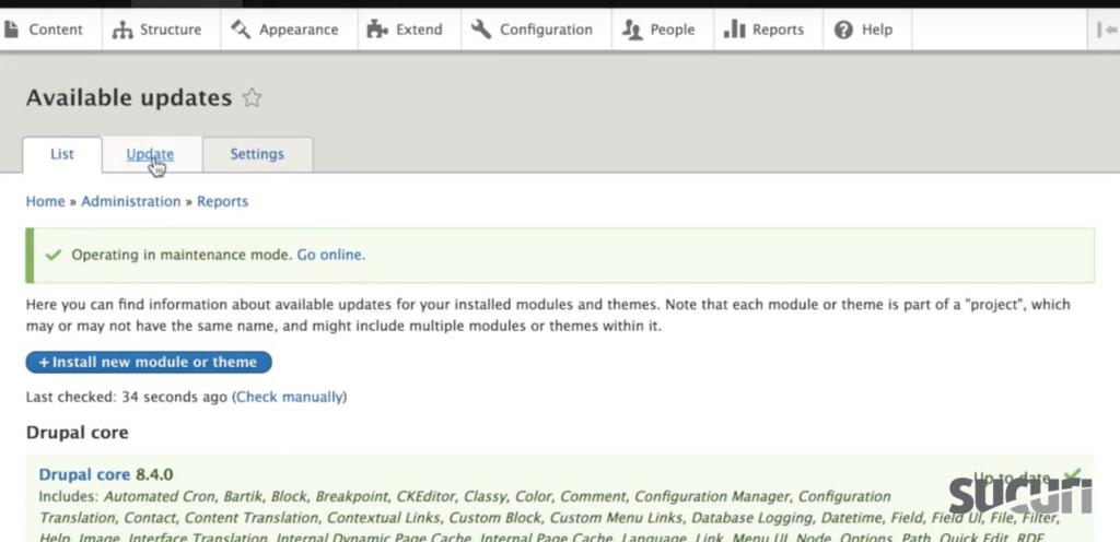 Select Update - Drupal