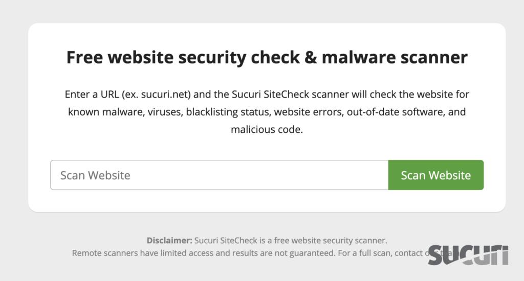 Drupal Scanner - Sitecheck